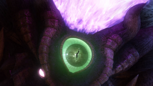 Dark Gaia's eye on its forehead