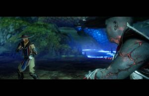 Kung Lao fighting his revenant self.