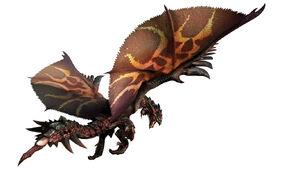MHGen-Black Flame King Rathalos Render 001