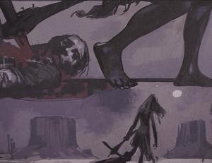 Marta dragging a corpse