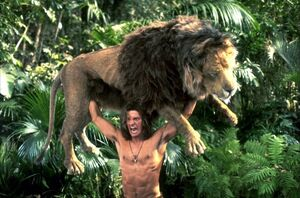 George of the Jungle lifting a Lion.jpg