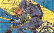 Link fighting Dark Link