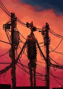 Siren Head Telephone Pole
