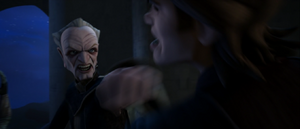 Palpatine punches