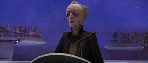 Chancellor Palpatine displaying