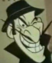 Evil grin dishonest john