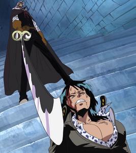 Nico Robin beaten up by Spandam