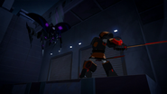 Shadow Raker's Spider Mode in flight