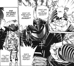 Metroid Manga Bad Boss
