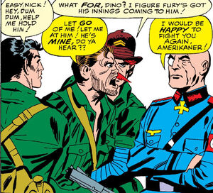 Nick Fury faces off against Baron Strucker Sgt.Fury Vol 1 Issue 5