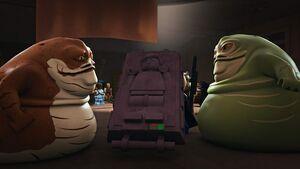 Graballa and Jabba on Tatooine