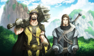Ned stark and robert baratheon by hueco mundo-d6i1xla