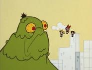 Powerpuff Confronting Blob Monster