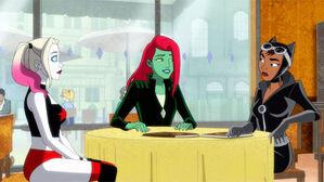 Selina Kyle, Harley Quinn and Posin Ivy (Harley Quinn TV Series)