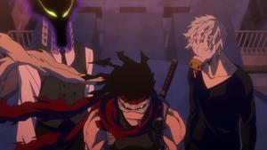 Stain, Tomura, and Kurogiri
