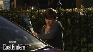 Bobby Smashes Car EastEnders