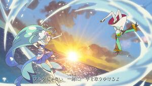 Cure Mermaid (Princess of the Sea) vs. Stop (Opening)