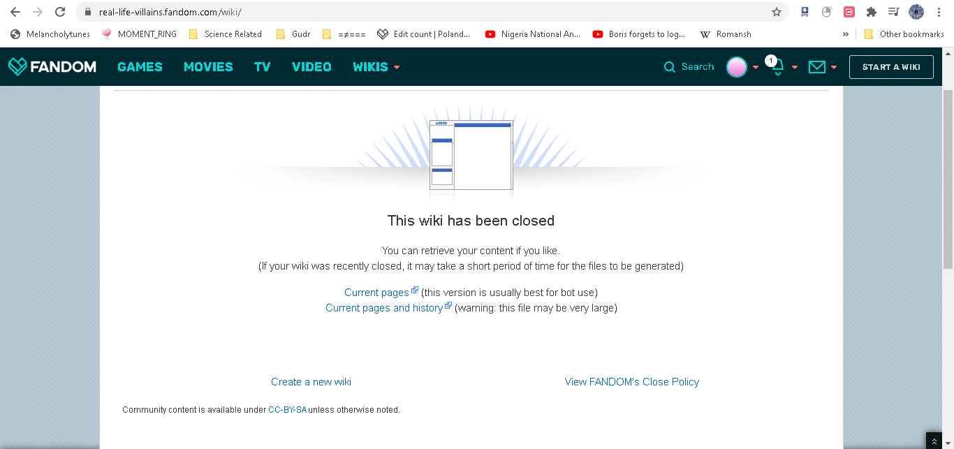 Andrew Do/The Real Life Villains wiki got shut down
