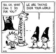 Calvin meets aliens