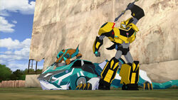 Crazybolt and Slicedice with Bumblebee