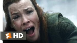 The Hobbit The Battle of the Five Armies - Kili's Sacrifice Scene (7 10) Movieclips