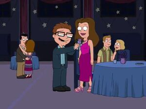 Lisa At the school dance with Steve