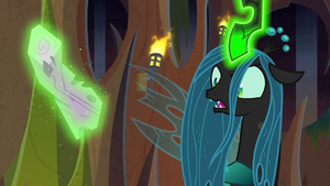 Queen Chrysalis 'no, he didn't' S9E8