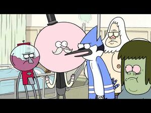 Regular Show - Mordecai Punches Benson Hard
