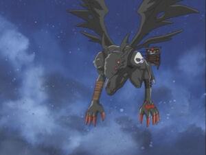 Devidramon is in the air
