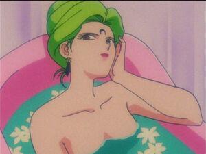 Esmeraude taking a bath