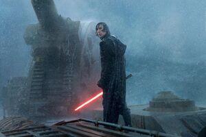 Kylo Ren in the Death Star ruins