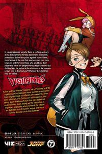My Hero Academia Vigilantes Manga Volume 2 Back Cover