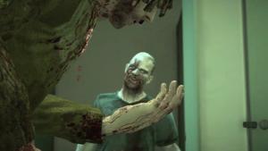 Brandon bitten by a zombie