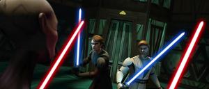 Asajj Ventress Anakin Obi-Wan bout