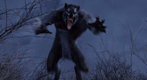 Grey Werewolf leap