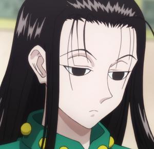 Illumi's emotionless expression