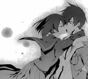 Kurome kisses Wave