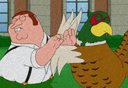 Peter Griffin and Ernie Chicken British version