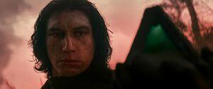 Kylo holds Vader's wayfinder