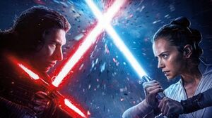 Rey and Kylo Poster Textless