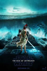 Star wars rise skywalker rey kylo ren death star duel poster