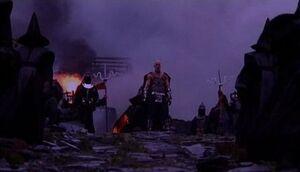 Shao Kahn with the Kahn Guards