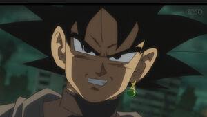 Goku black evil grin