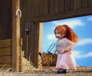Little Girl Pegasus Whipping
