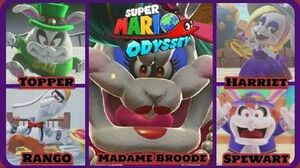 Super Mario Odyssey All Broodal Boss Encounters-Perfect