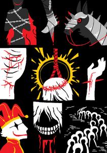 Scarlet hanged kings bobble clown