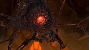 Fabrication Machine holding Winged Beast's head