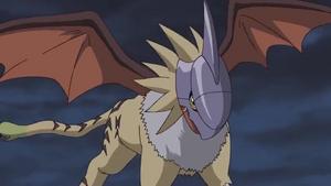 Gryphonmon hit MetalGarurumon