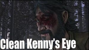 The Walking Dead Season 2 Episode 5 Clementine Cleans Kenny's Eye