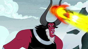 Lord Tirek blasts the magic barrier S9E8
